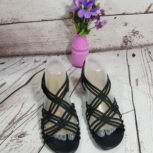 St. John's Bay Women's Strappy Sandals Black 7.5